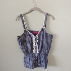 Button up lace tank by Almost Famous